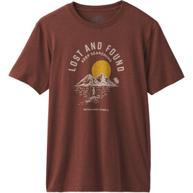 Prana Bradhaw T-Shirt Uomo, maple heather